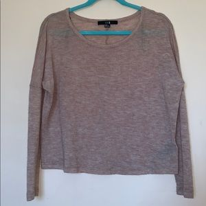 Forever 21 rose knit long sleeve sweater